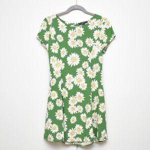 Forever 21 Green Daisy Fit & Flare Mini Sundress